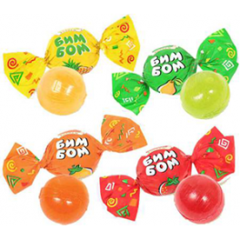 """Caramel met fruit vullen """"Bim-Bom"""""""