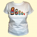 "T-shirt ""Matryoshka"" biały"