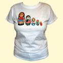 """T-shirt """"Matryoshka"""" white"""