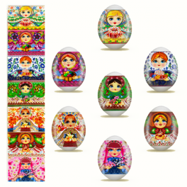 "Easter egg sticker "" Matreshka """