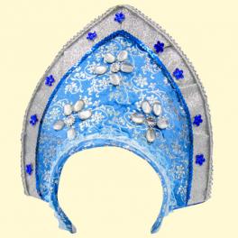 """Kokoshnik """"Snow Maiden""""blauw"""