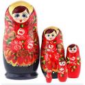 Matryoshka - Rode bloemen