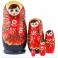 Matryoshka - Red Flowers