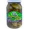 Komkommer met bladeren van zwarte bessen